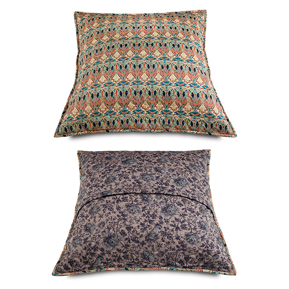 2 CUSHION Covers Liberty Fabrics Prints Moon 82  1 of 40X40cm and 1 of 60X60cm.