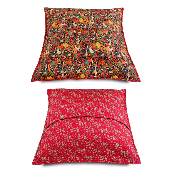 2 CUSHION Covers Liberty Fabrics Prints Sun 91  1 of 40X40cm and 1 of 60X60cm.