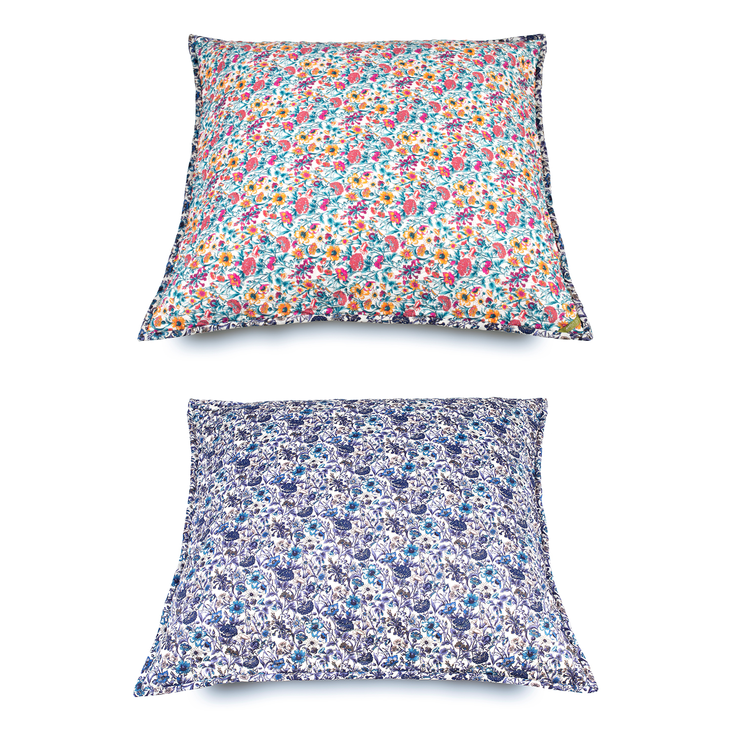 2 CUSHION Covers Liberty Fabrics Prints STAR 1001,  1 of 40X40cm and 1 of 60X60cm.