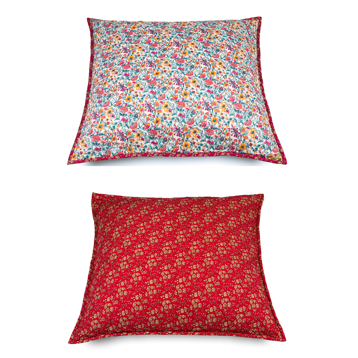 2 CUSHION Covers Liberty Fabrics Prints STAR 1002  1 of 40X40cm and 1 of 60X60cm.